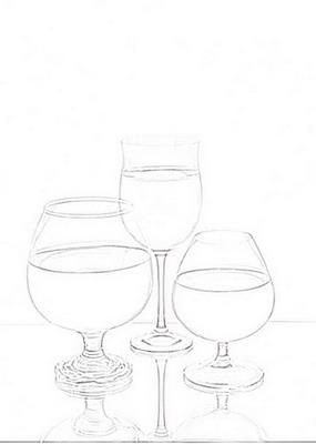 как нарисовать стеклянные